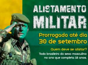 Alistamento Militar prorrogado até dia 30 de setembro de 2020